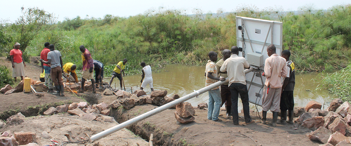 W Water Works surface pump system lake kyoga